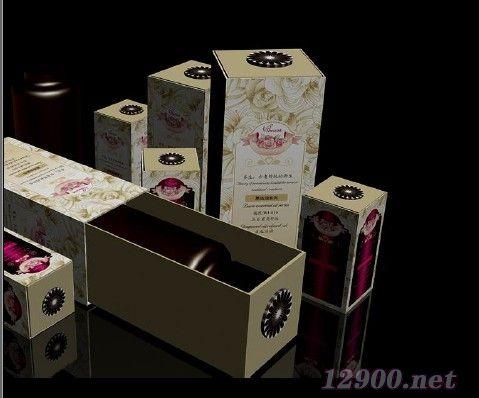化妆品产品包装(花盒)设计