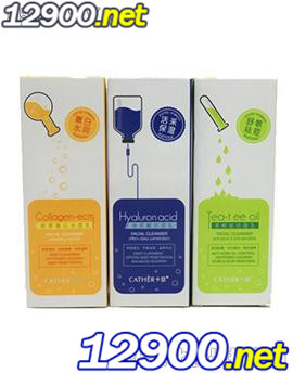 卡瑟胶原蛋白玻尿酸茶树洁面乳