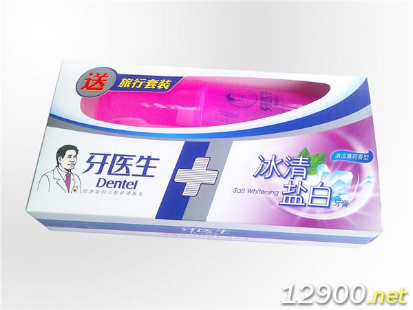 175g牙医生冰清盐白牙膏套装