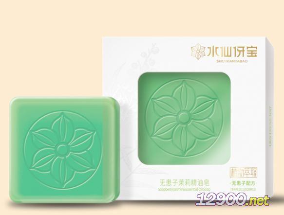 水仙伢���o患子茉莉精油皂