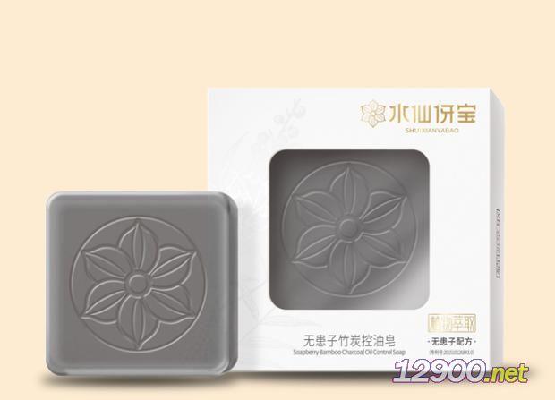 水仙伢���o患子竹炭控油皂