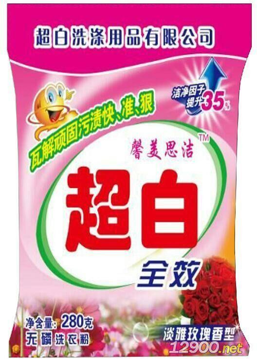 超白柔和洗衣粉玫瑰香型280g