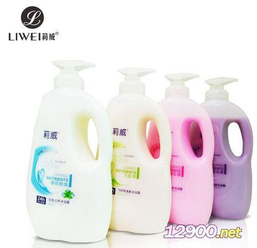 莉威1L沐浴露系列4款�纹�