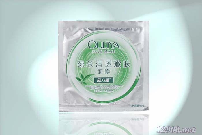 绿茶清透嫩肤面膜