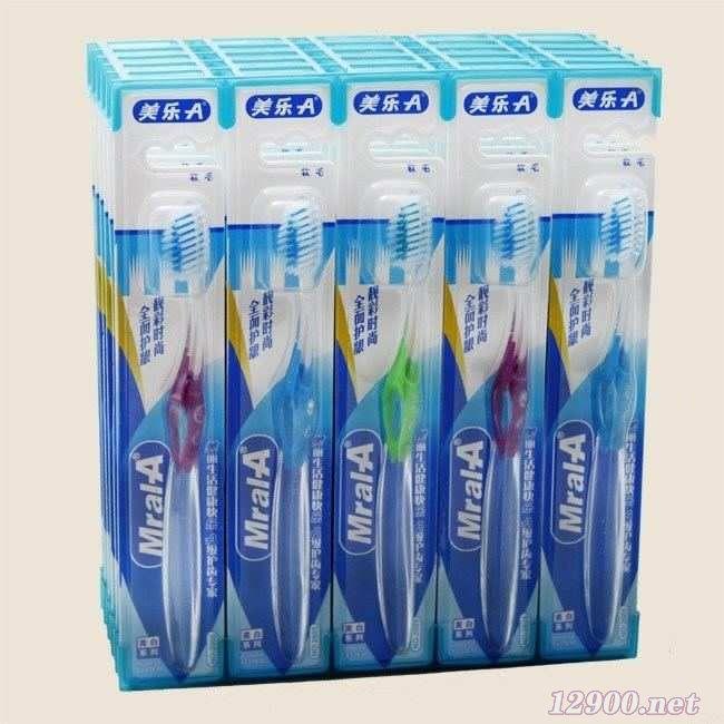 新品幻彩透明高档牙刷