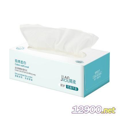 简柔婴儿纯棉柔巾(100片)盒装