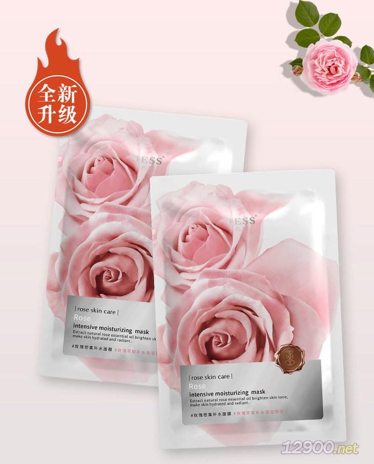 玫瑰密集�a水面膜
