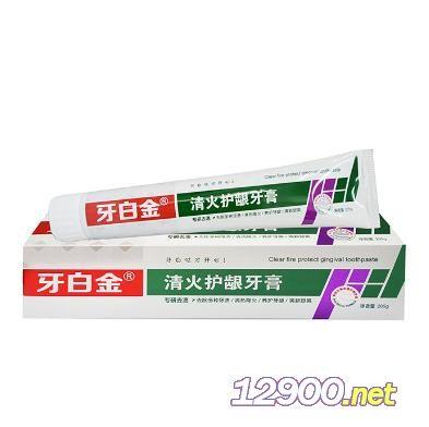 牙白金清火护龈牙膏