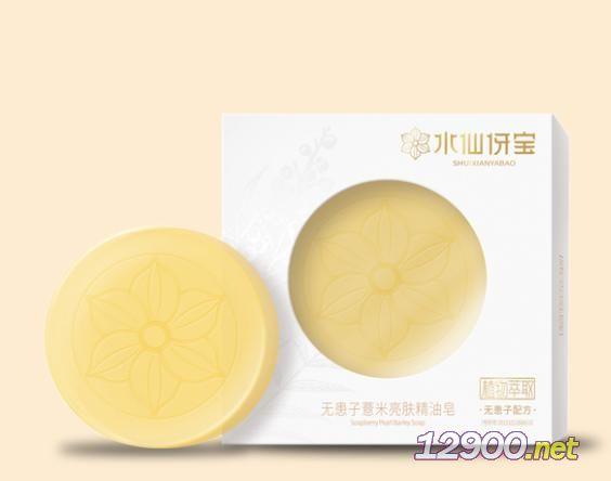 水仙伢宝无患子薏米亮肤精油皂