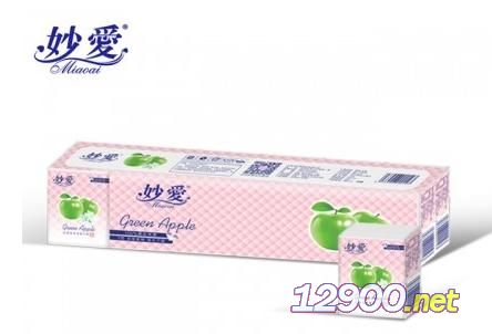 妙爱青苹果12装迷你手帕纸