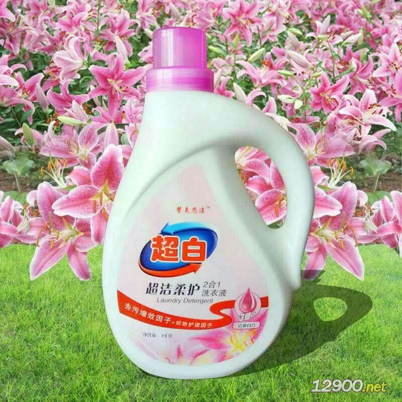 超白植物萃取柔�o洗衣液3kg