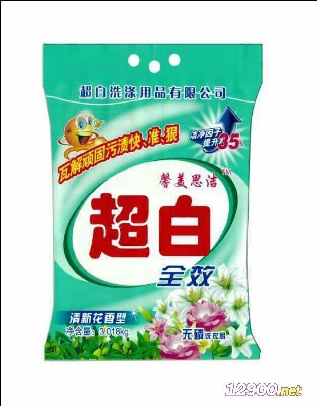 超白洁白洗衣粉3018g