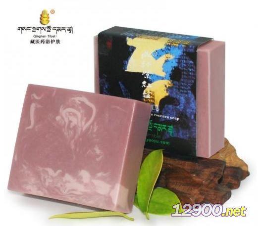 藏秘紫红盐薰衣草手工皂