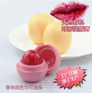 水果草莓香味球形��唇膏