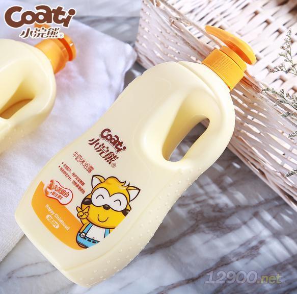 小浣熊���和�牛奶沐浴露