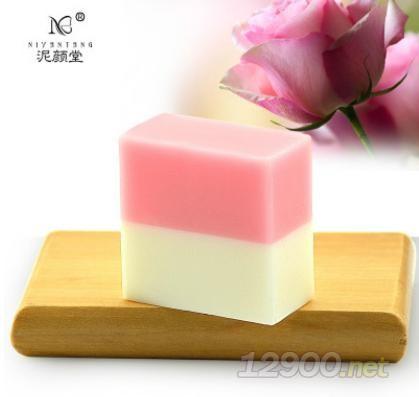 玫瑰牛奶补水双色精油手工皂